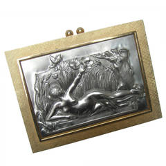 Exquisite Italian Gilt Metal Evening Bag Designed by Harry Rosenfeld