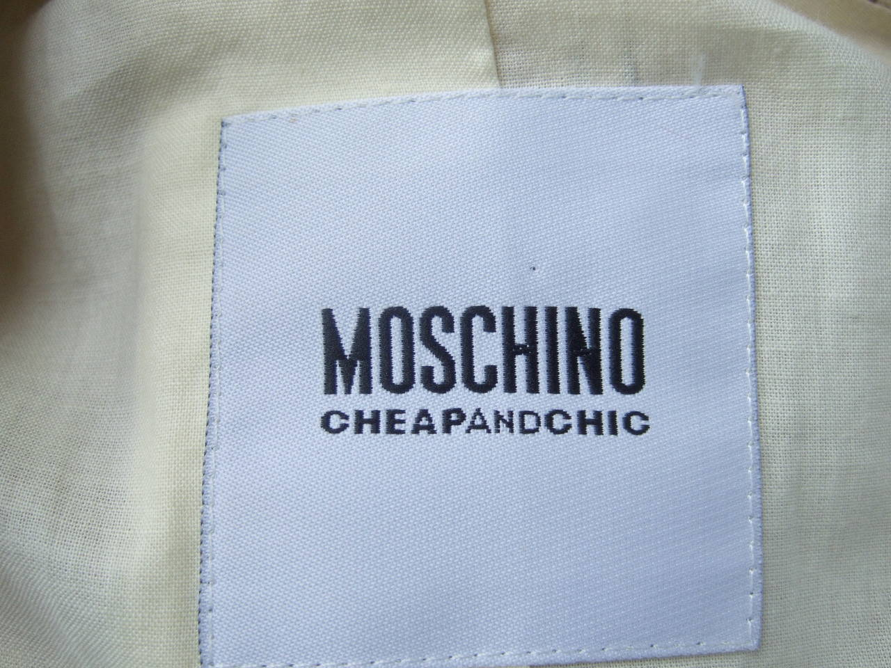 Moschino Cotton Awning Striped Jacket US Size 8 For Sale 3
