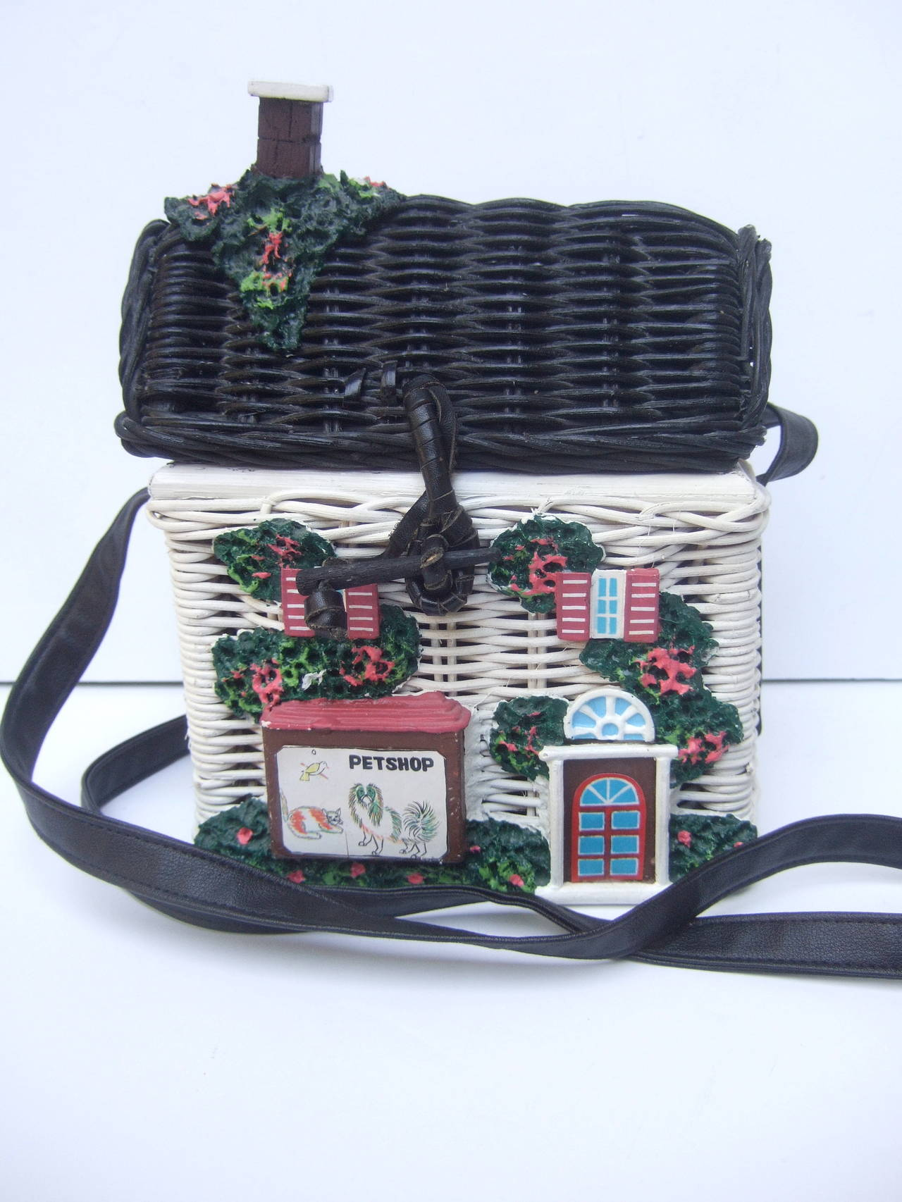 Timmy Woods Beverly Hills Whimsical Wicker House Handbag 5