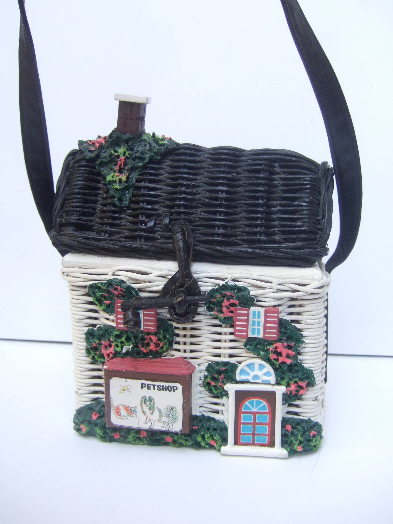 1stdibs Timmy Woods Beverly Hills Charming Wicker House Purse rBik4LD
