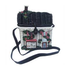 Timmy Woods Beverly Hills Whimsical Wicker House Handbag