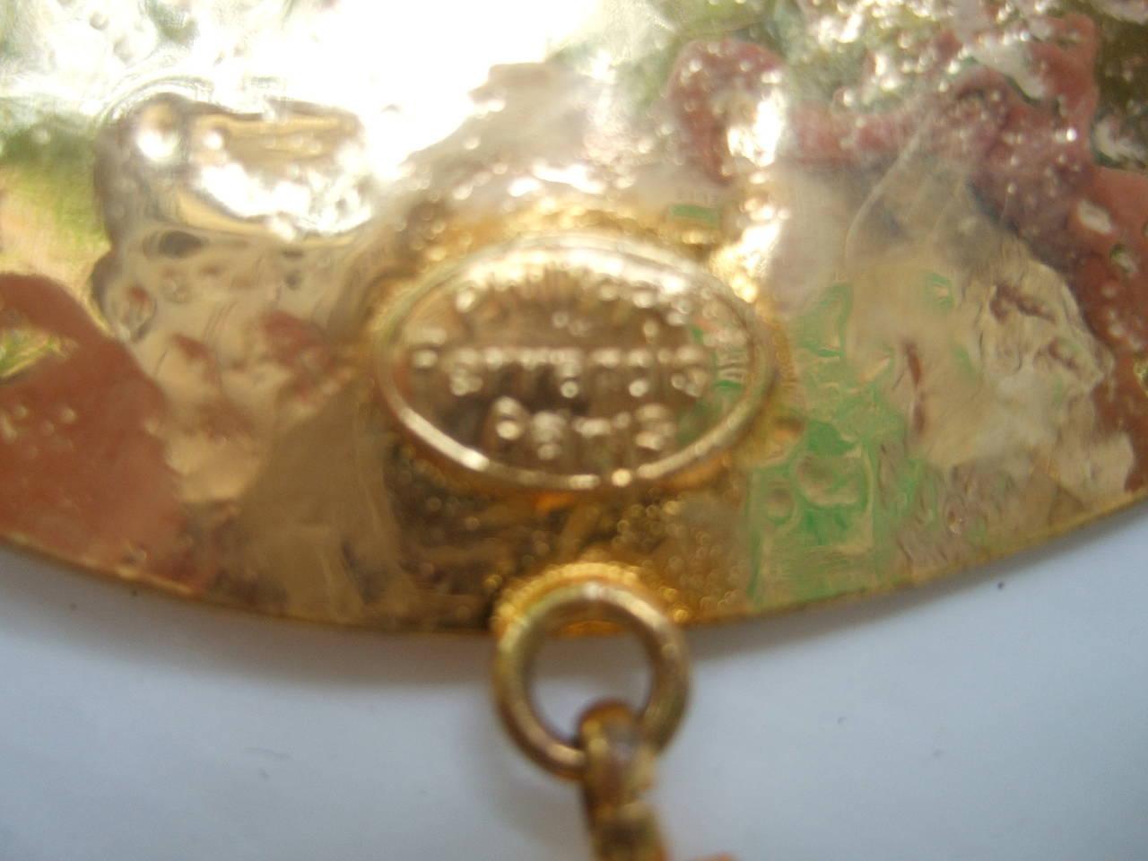Philippe Ferrandis Paris Magnificent Agate Pendant Necklace For Sale 4