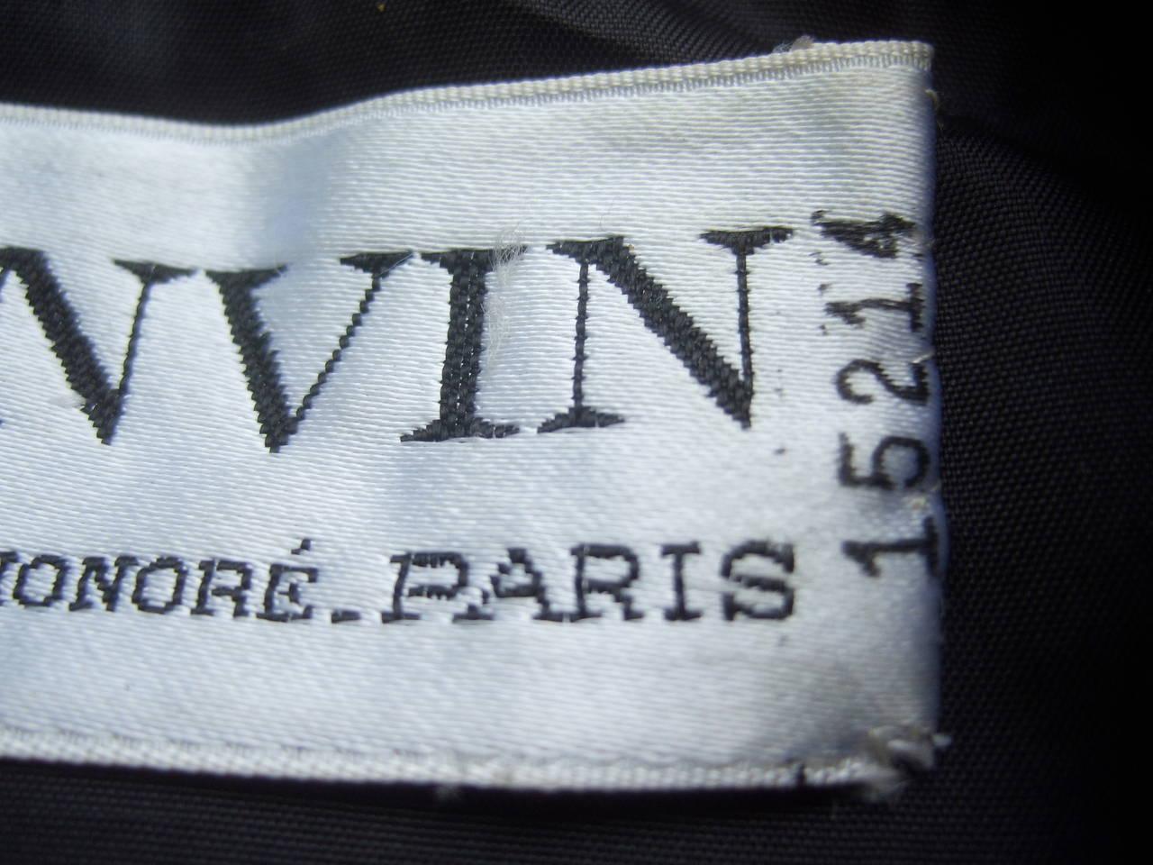 Lanvin Couture Paris Wool Jacket & Paisley Blouse Ensemble c 1980s For Sale 4