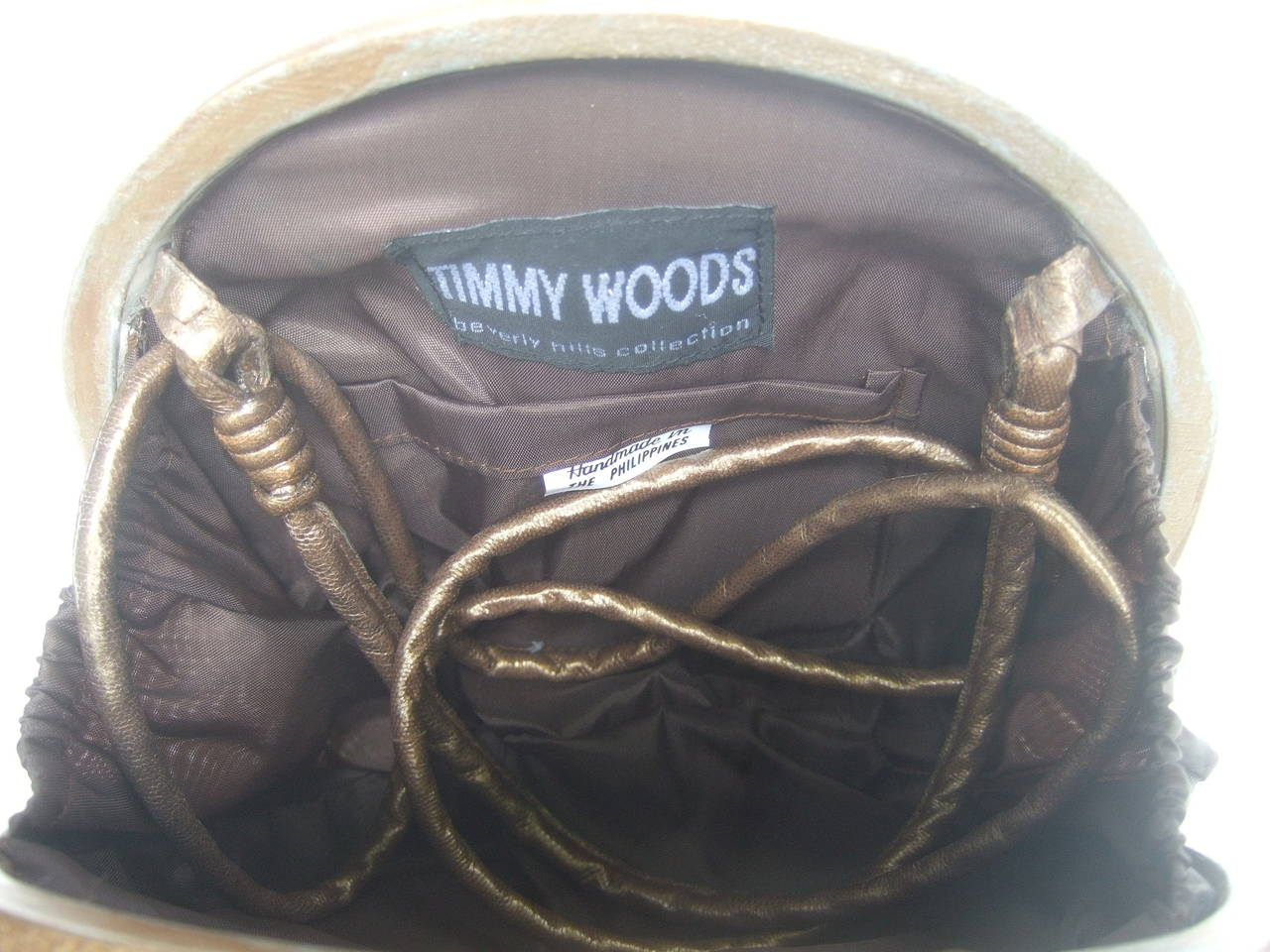 Timmy Woods Beverly Hills Artisan Wood Lion Handbag 7