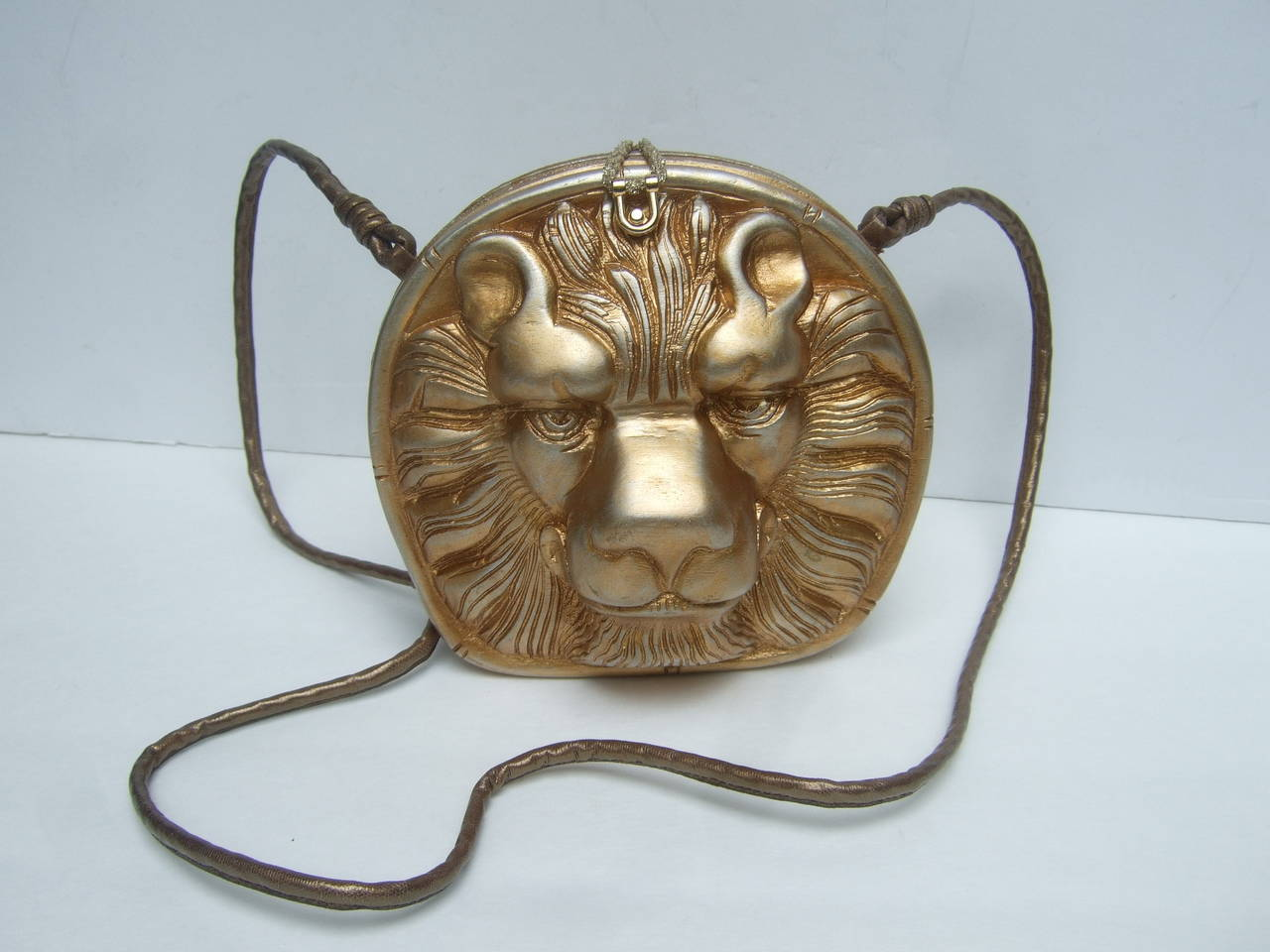 Timmy Woods Beverly Hills Artisan Wood Lion Handbag 3
