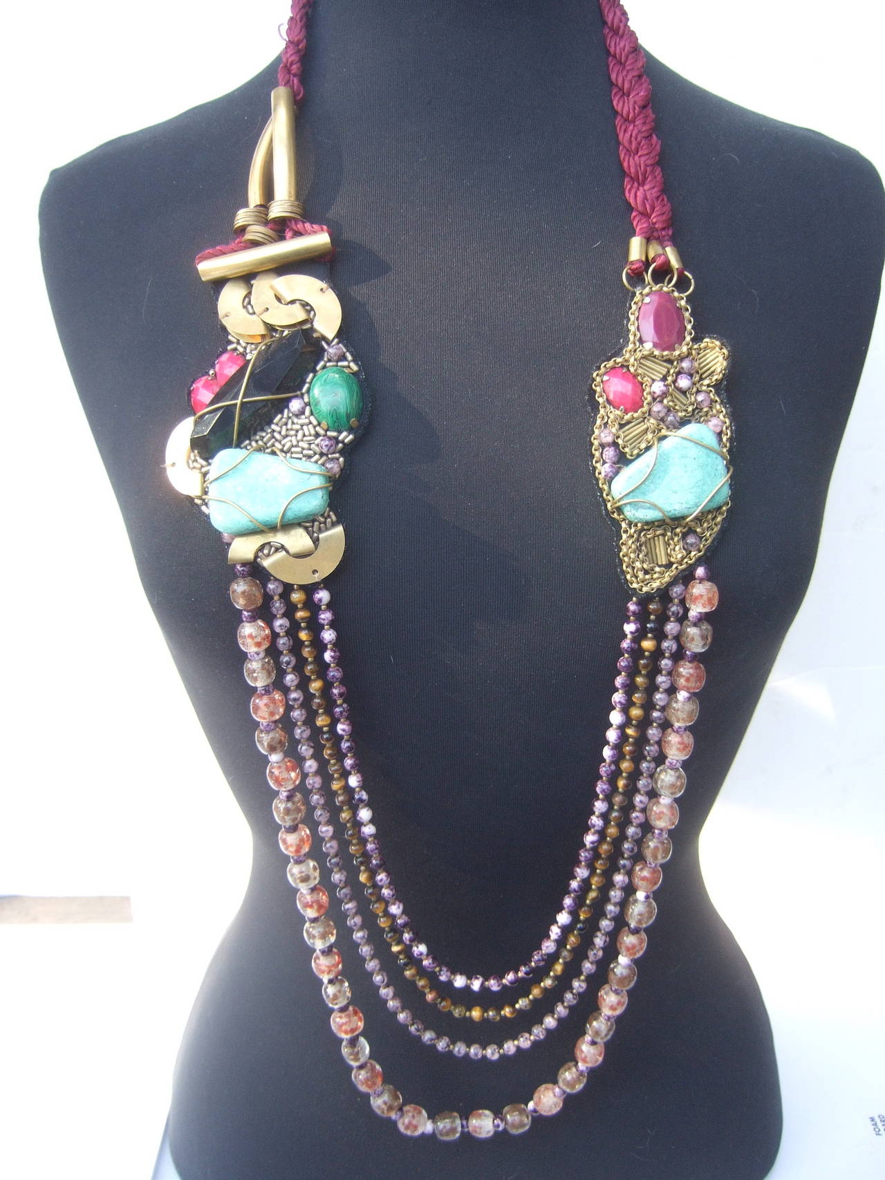 flat products colourful accessories olive jewellery ruby and paradiso resin artisan necklace