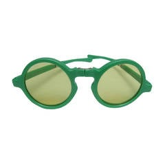 Avant-Garde Italian Green Tinted Sunglasses Designed by Tuttifrutti Italy