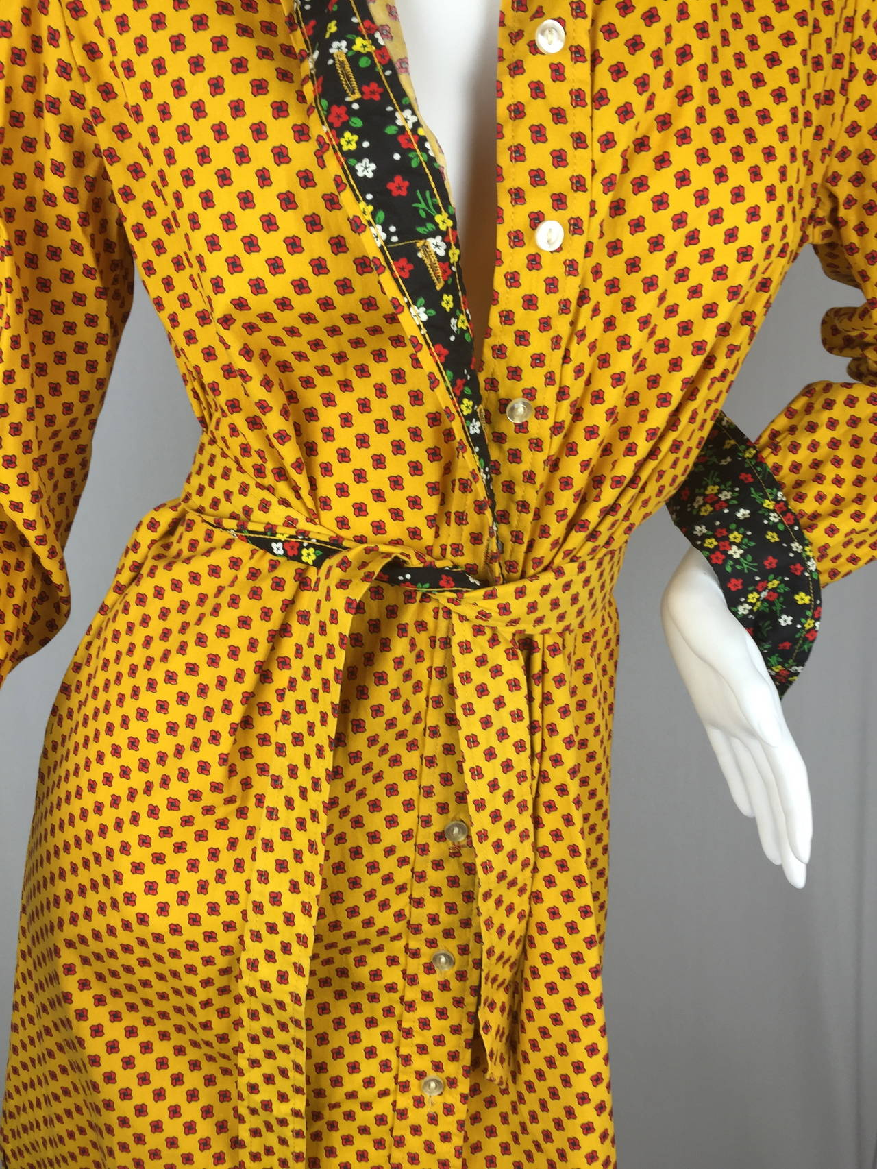1970's Shirt Dress by Geoffrey Beene For Sale 4