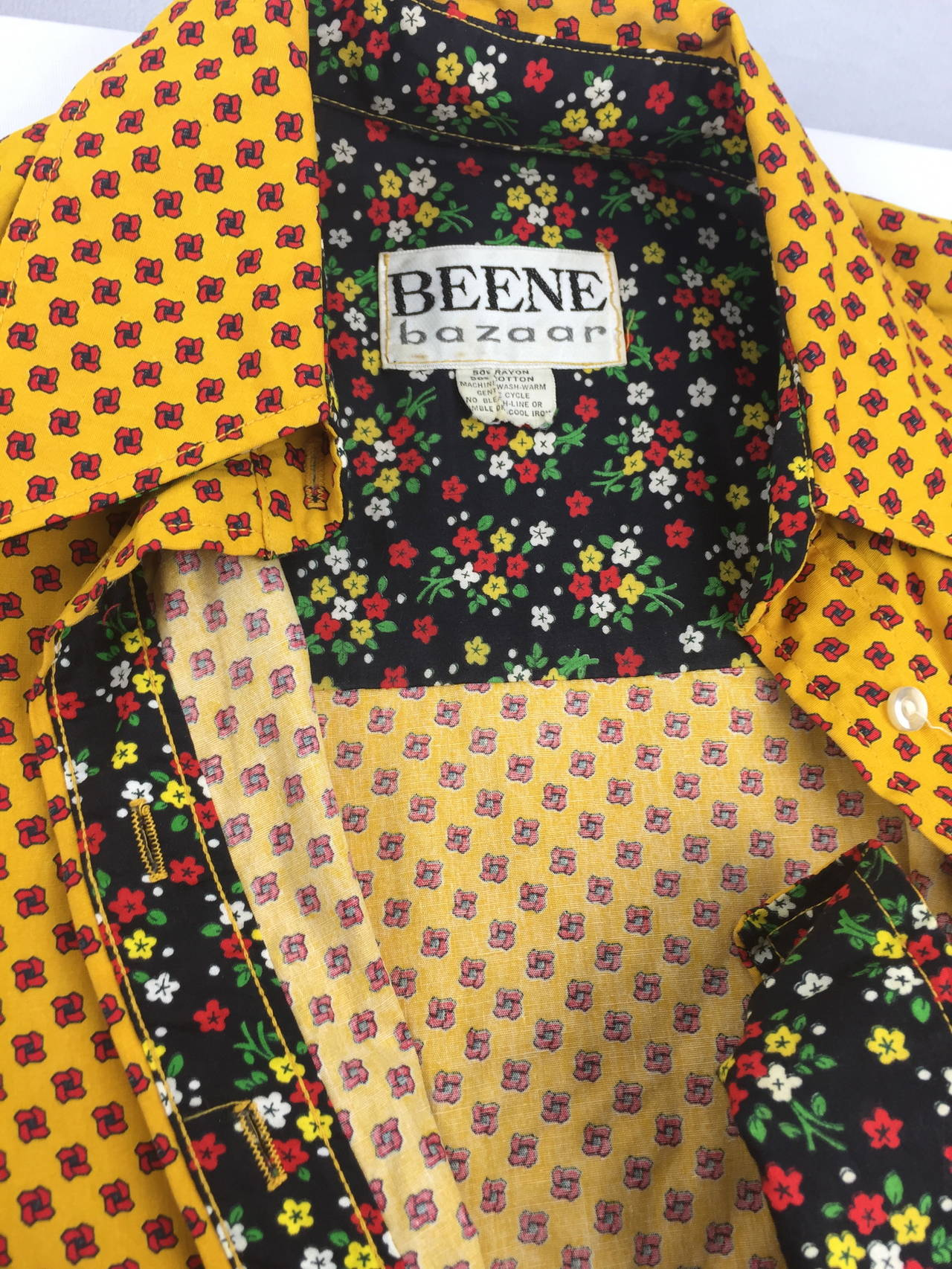 1970's Shirt Dress by Geoffrey Beene For Sale 3