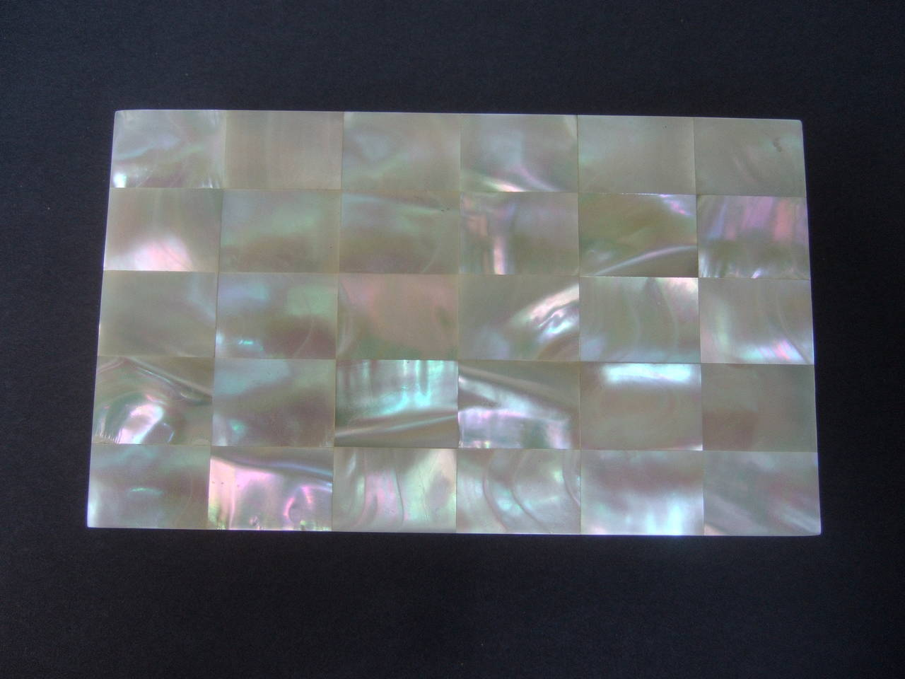 Opulent Mother of Pearl Compact Cigarette Case Clutch 8