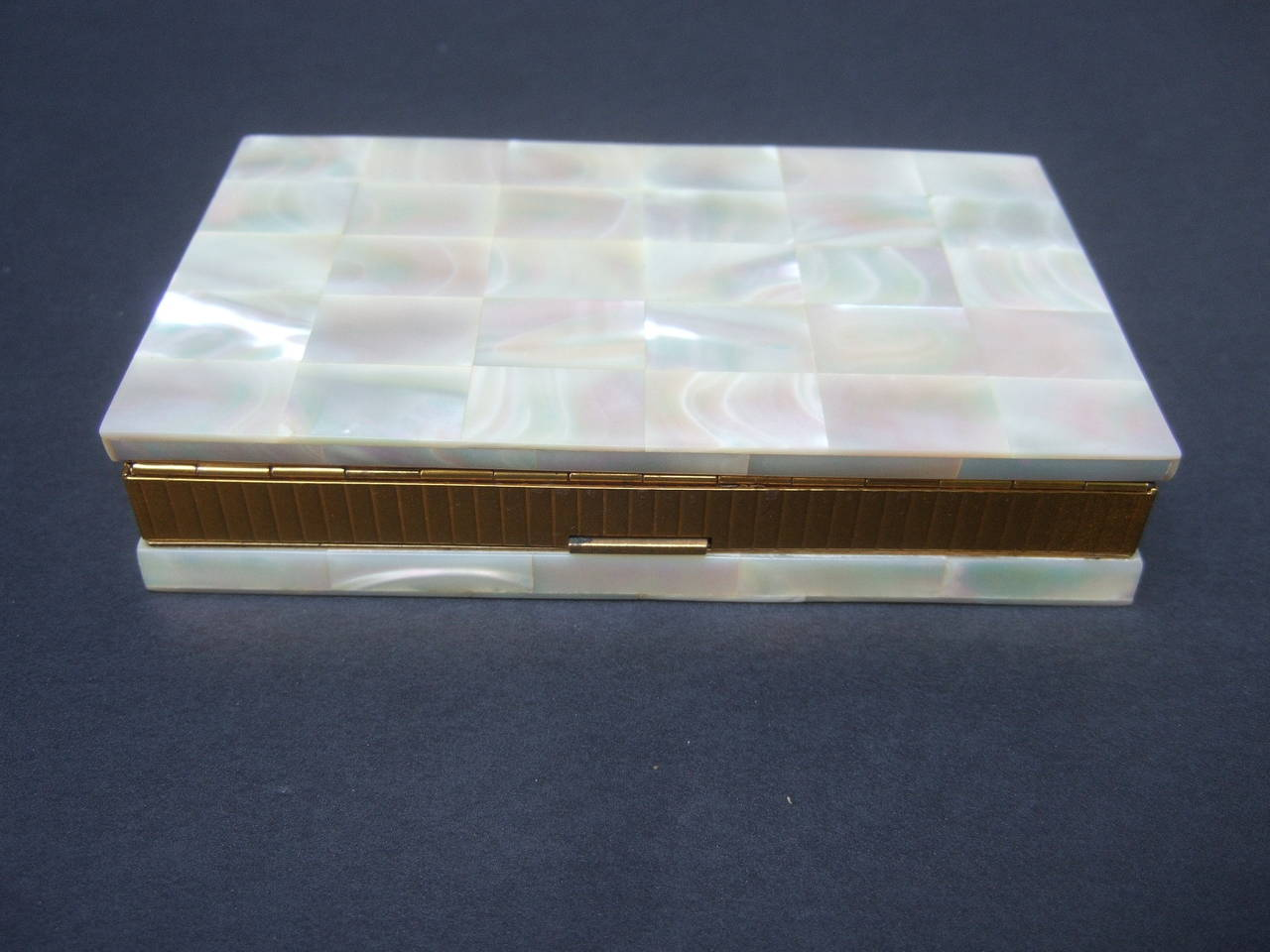 Opulent Mother of Pearl Compact Cigarette Case Clutch 4