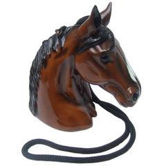 Timmy Woods Beverly Hills Horse Head Artisan Handbag
