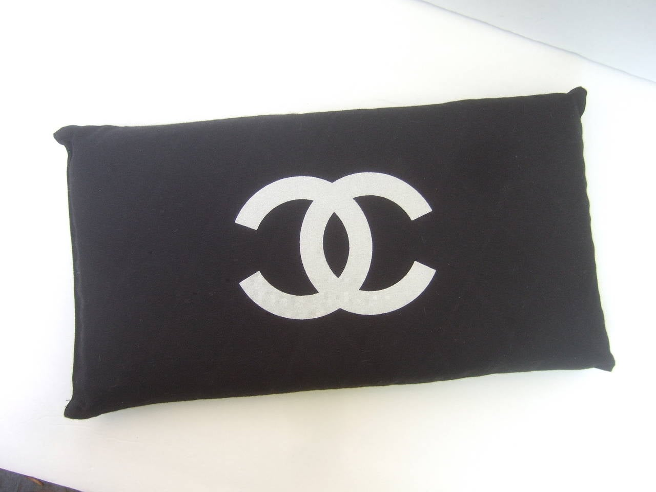 Chanel Black Rectangular Cloth Pillow At 1stdibs