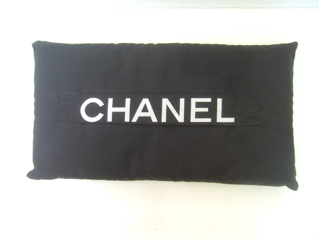 Black Chanel Throw Pillow : Chanel Black Rectangular Cloth Pillow at 1stdibs