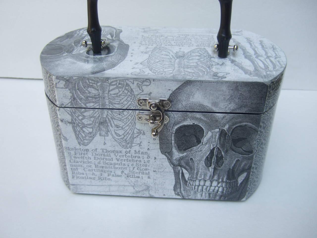 Avant Garde Decoupage Artisan Skeleton Box Style Handbag 4