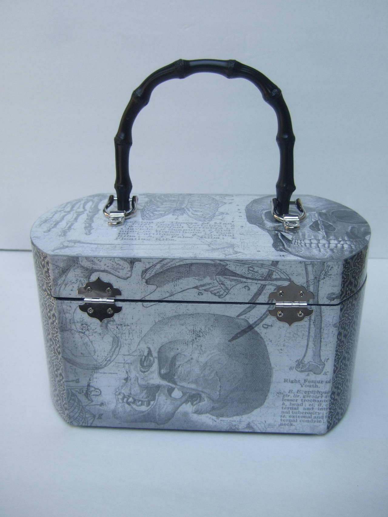 Avant Garde Decoupage Artisan Skeleton Box Style Handbag 3