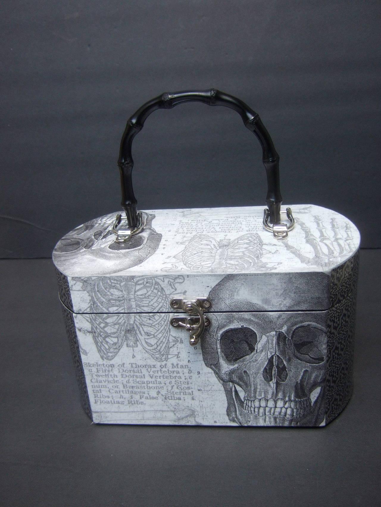 Avant Garde Decoupage Artisan Skeleton Box Style Handbag 2