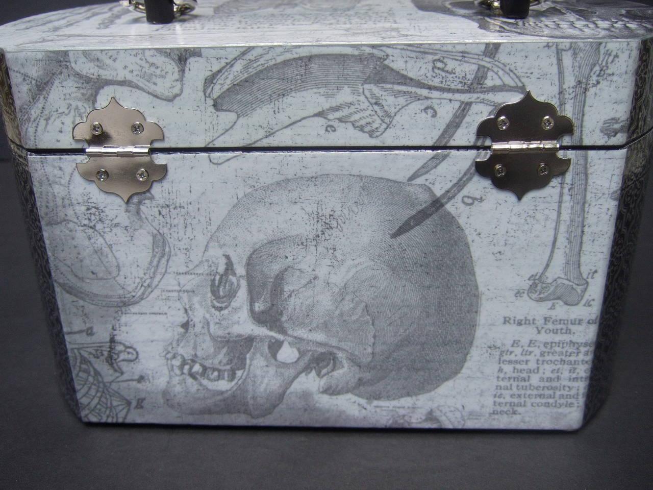 Avant Garde Decoupage Artisan Skeleton Box Style Handbag 6