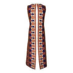 Extraordinary 1970's Embroidered Maxi Vest By Calvin Klein