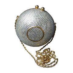 Opulent Crystal Encrusted Orb Evening Bag c 1980
