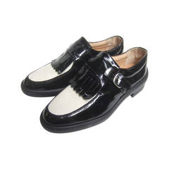 Women's Italian New Patent Leather Brogue Golf Shoes US Size 7.5
