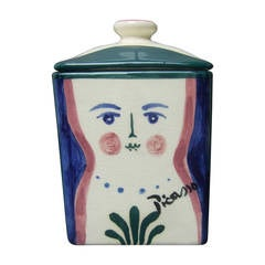 Picasso for Pidilla Pottery Ceramic Jar Made in Mexico 1944