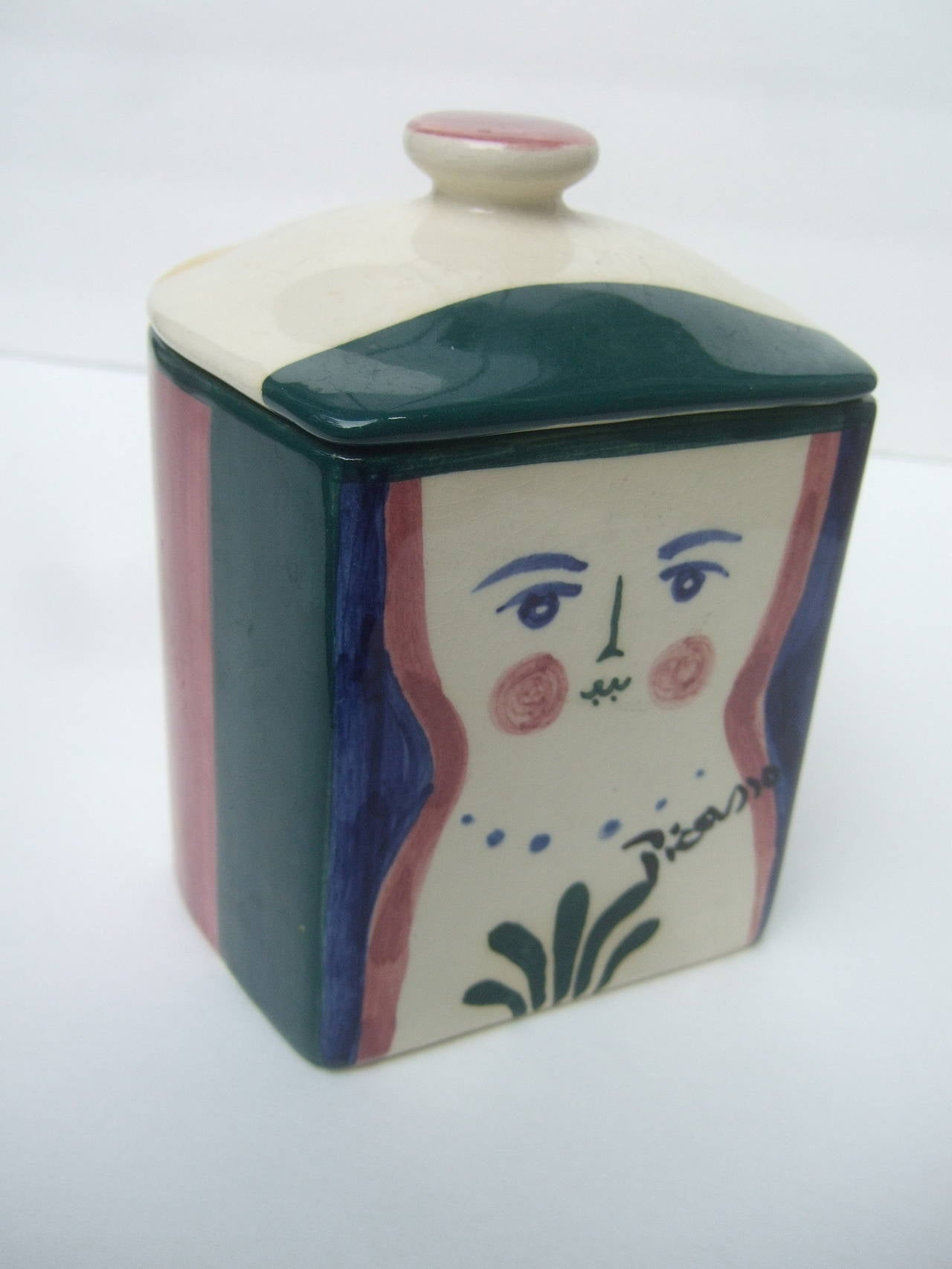 Picasso For Pidilla Pottery Ceramic Jar Made In Mexico