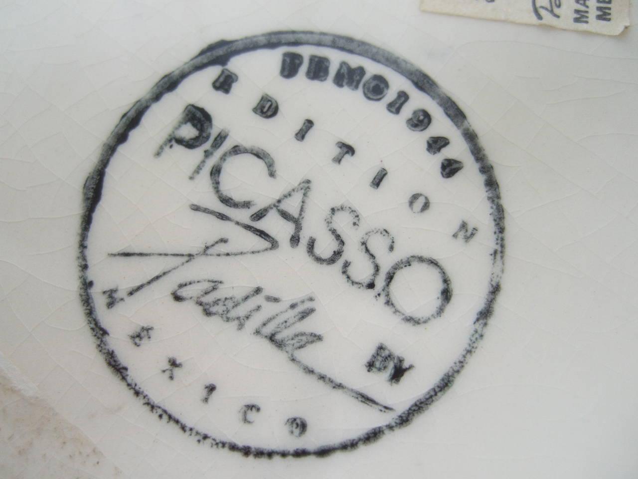 Picasso For Pidilla Pottery Ceramic Jar Made In Mexico