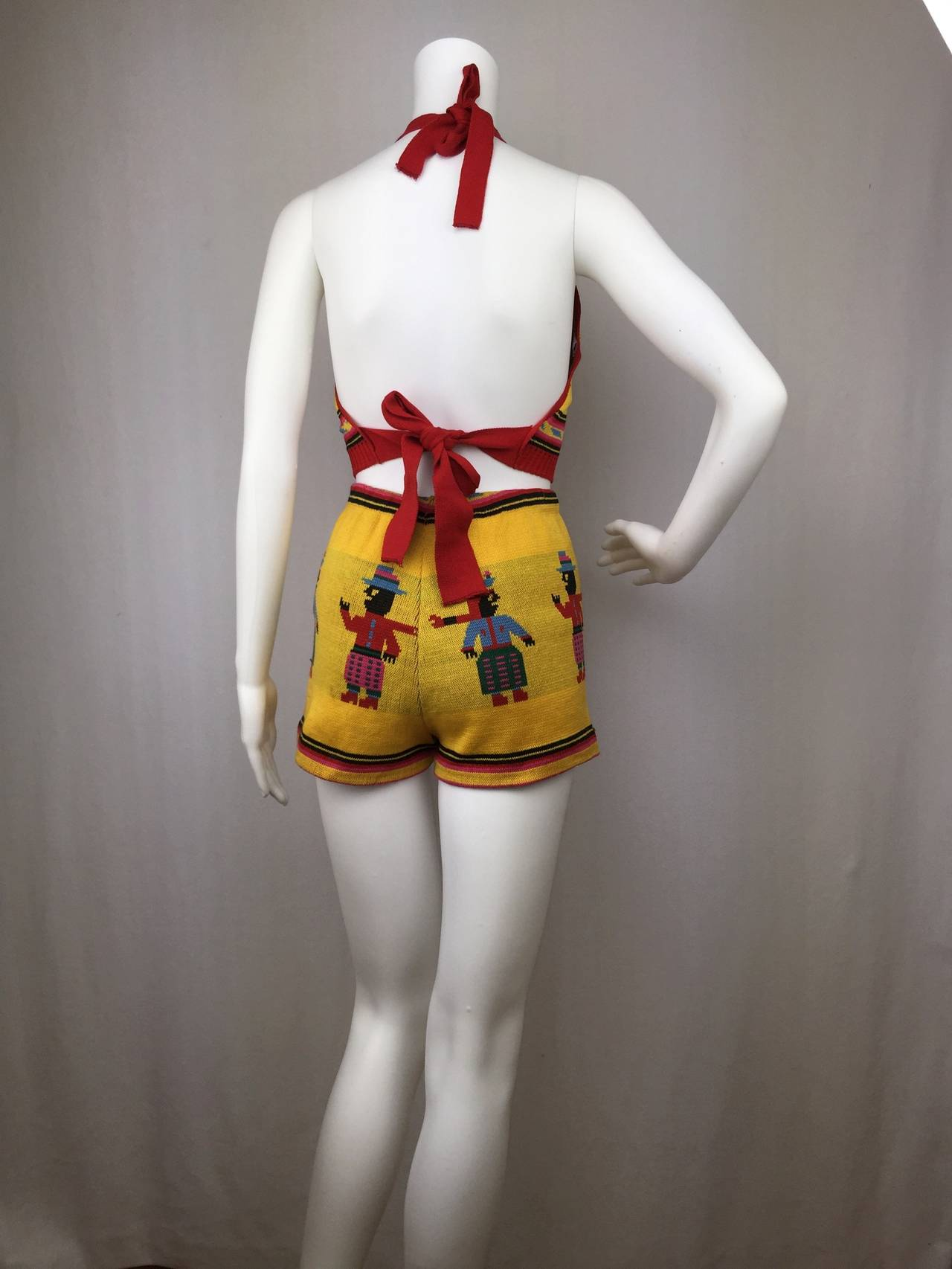 Rare 1970's Betsey Johnson Alleycat Halter and Shorts Set 3