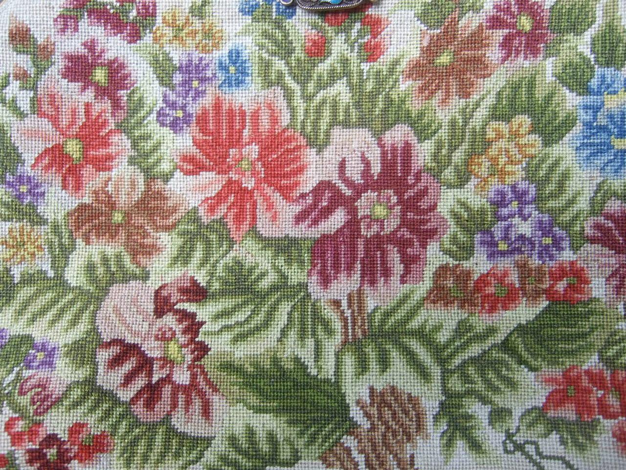 d3d5e08a0ead6 Exquisite Petit Point Jeweled Floral Evening Bag. 1920s For Sale at ...