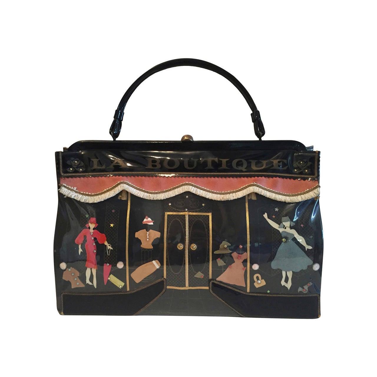 Wonderful 1950 S Soure New York La Scene Bag At 1stdibs