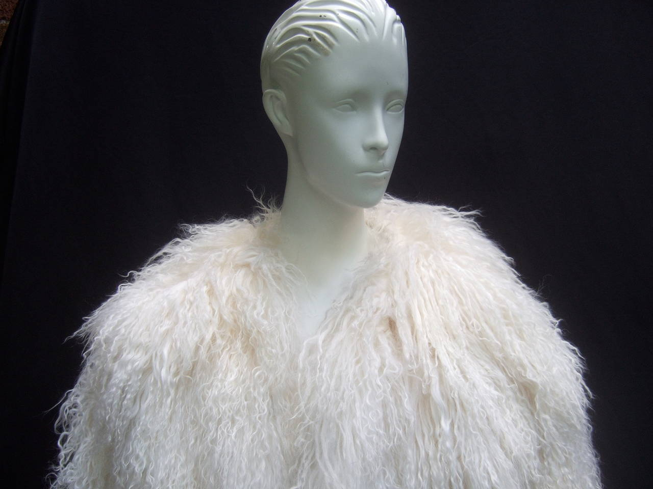 Tibetan Fluffy Lamb Fur Chubby Jacket for Neiman Marcus c 1980s 3