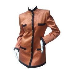 Emanuel Ungaro Parallele Paris Peach Satin Jacket US Size 8