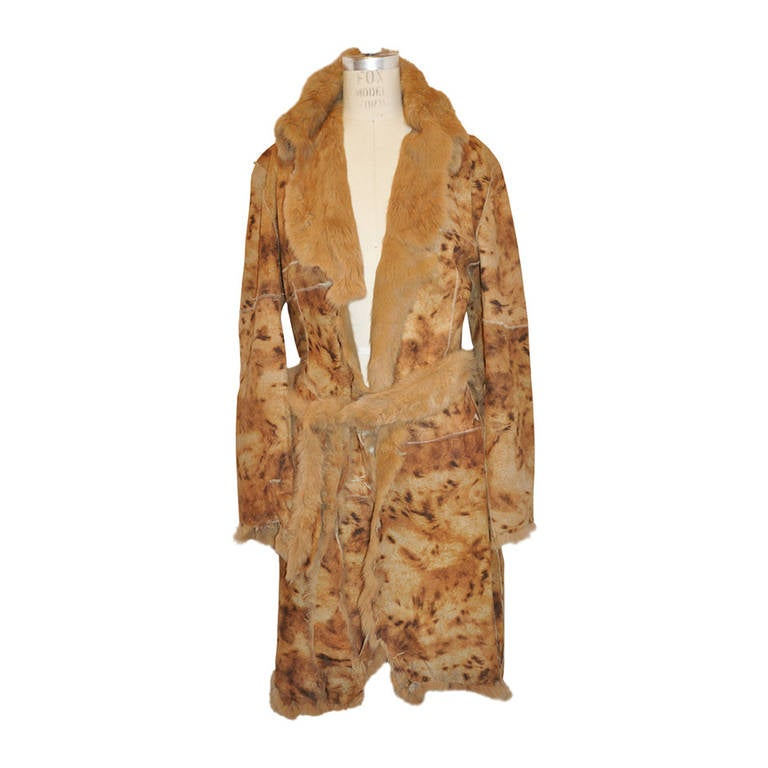 "Dolce & Gabbana ""Savage"" Style Fur Wrap Coat"