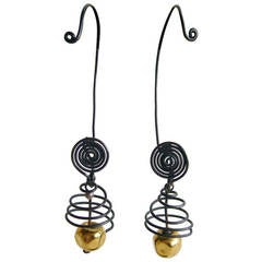 Margret Craver Withers Caged Wire Earrings
