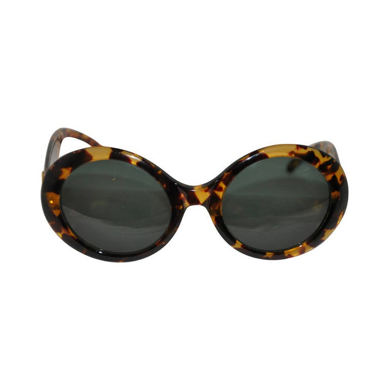Gucci Large Round Tortoise Shell Sunglasses For Sale