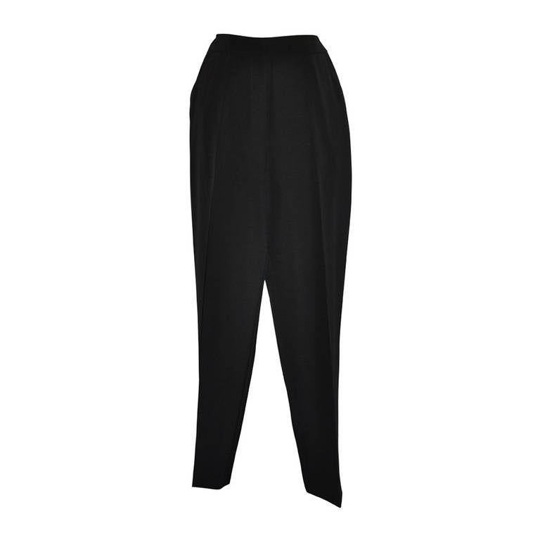 Yves Saint Laurent Signature Black Spring Wool Trousers