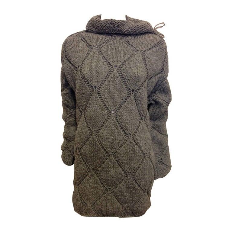 Maison Martin Margiela Grey Diamond Knit Sweater 1