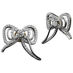 Alexandra Mor Diamond Medi Bow Stud Earrings