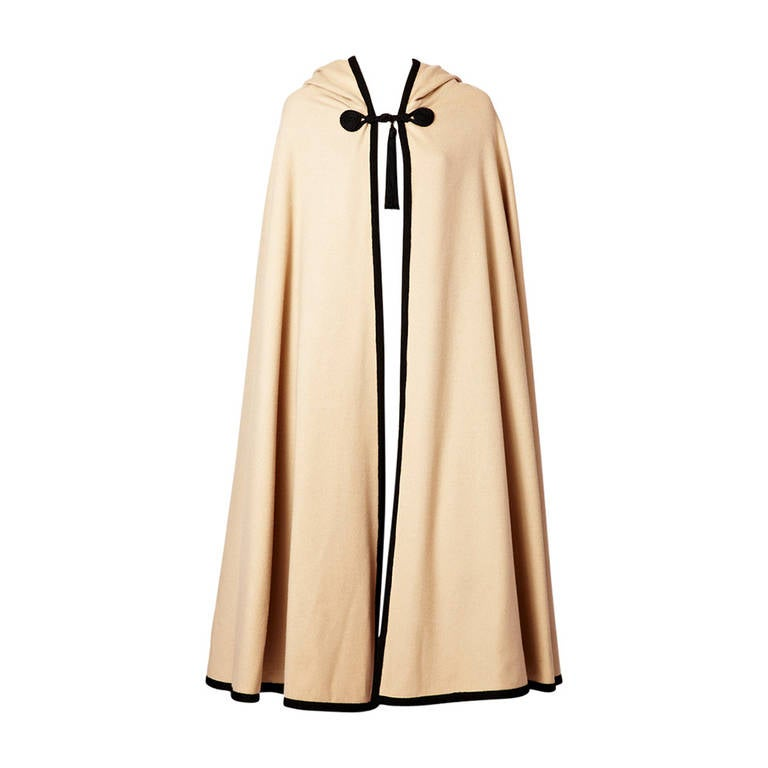 YSL Moroccan Inspired Hooded Cape For Sale