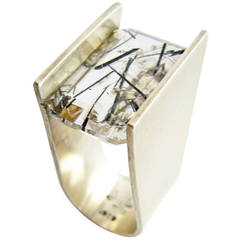 Heidi Abrahamson Rutilated Quartz Sterling Silver Ring