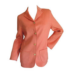 Chado Ralph Rucci Salmon Cashmere Jacket with Cut Outs