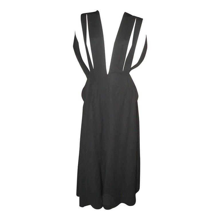 Yohji Yamamoto Vintage Long Black Dress