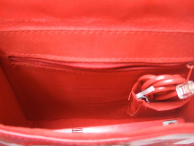 1970s Avant Garde Mod Red Vinyl Telephone Handbag For Sale 2