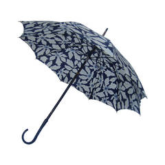 Schiaparelli Stylish Rare Leaf Print Umbrella c 1950