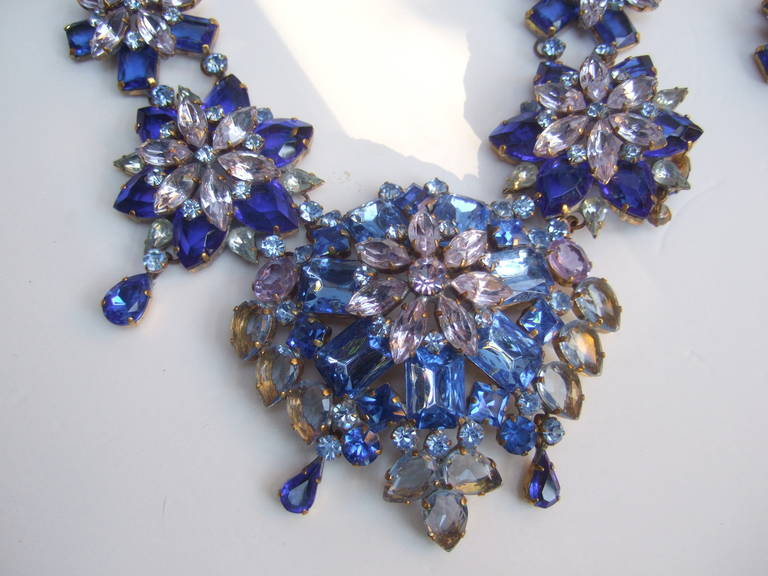 Spectacular Massive Crystal Necklace & Earring Set Designed by Lillien Czech 4