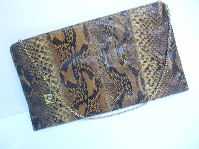 Pierre Cardin Sleek Python Versatile Clutch Bag C 1970 gxMz7Q