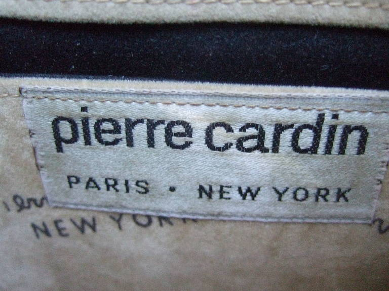 Women's Pierre Cardin Sleek Python Versatile Clutch Bag c 1970 For Sale