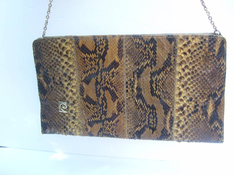 Pierre Cardin Sleek Python Versatile Clutch Bag c 1970 For Sale 2