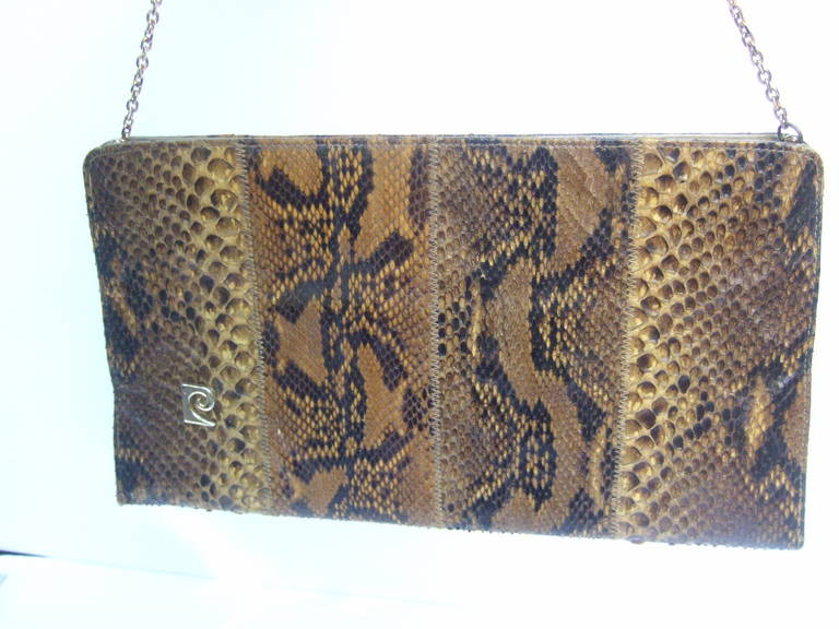 Pierre Cardin Sleek python versatile clutch bag c 1970
